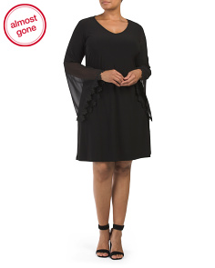 Plus Bell Sleeve Shift Dress