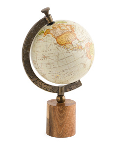Made In India Mango Wood Globe