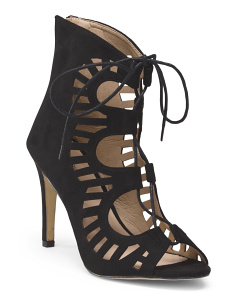 High Heel Lace Cut Out Sandal