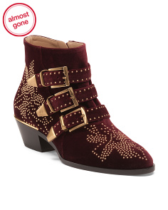 Made In Italy Susanna Studded Booties