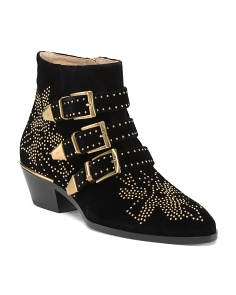 Made In Italy Susanna Studded Ankle Booties