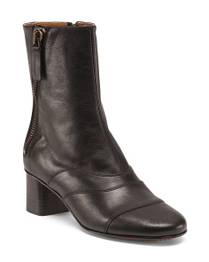Made In Italy Lexie Leather Booties