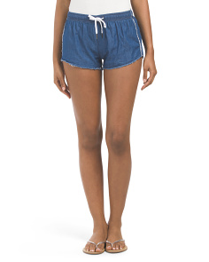 Juniors Chambray Short