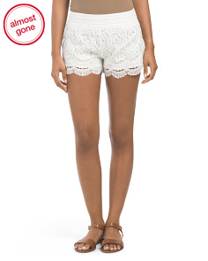 Juniors Crochet Short