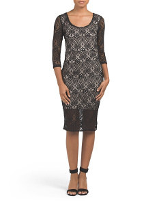 Juniors All Over Lace Midi Dress