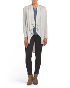 French Terry Open Cardigan