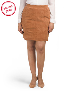 Plus Suede Skirt
