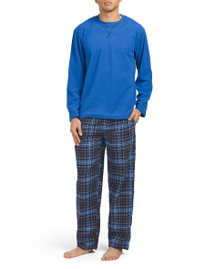 Microfleece Top Flannel Pants Set