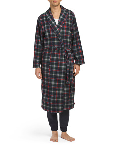 Plaid Ribbed Micro Fleece Robe