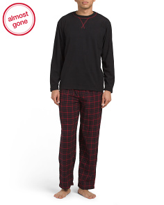 Microfleece Top And Flannel Pants