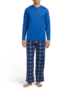 Henley And Microfleece Pants Set