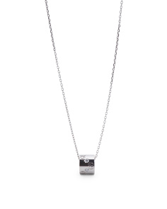 Made In Italy Diamond And 18k White Gold Icon Necklace
