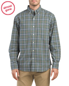 Plaid Oxford Button Down Shirt