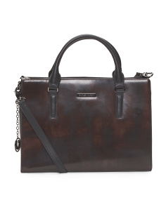Leather Ginger Satchel