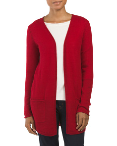 Cashmere Slouch Pocket Cardigan
