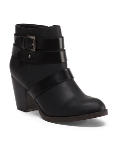Ankle Booties With Straps