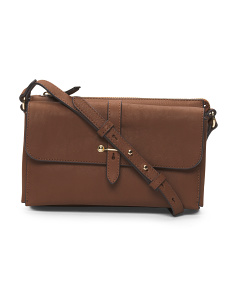 Cass Leather Crossbody