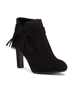 Harrah Suede Fringed Dress Booties