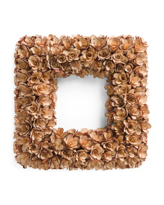 18in Square Woodchip Wreath