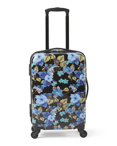 20in Floral Hardside Twister Carry-On