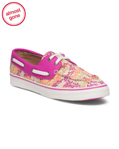 Canvas Biscayne Print Shoe