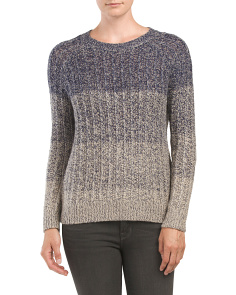 Marled Ombre Pullover Sweater