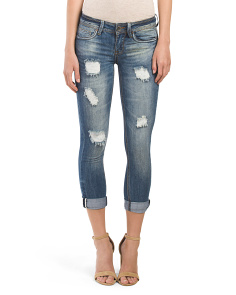Juniors Rolled Destructed Boyfriend Jean
