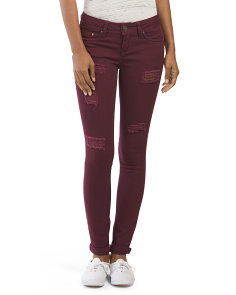 Juniors Destructed Skinny Denim Pant