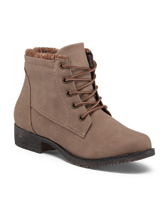 Loly Lace Up Booties