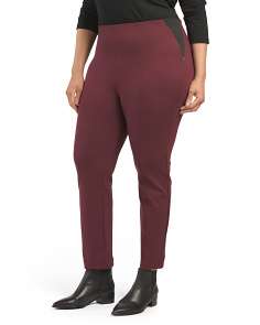 Plus Ponte Elastic Pants