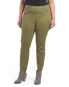 Plus Astor Pull On Super Stretch Twill Pants
