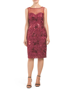 Sequined Novelty Lace Dress
