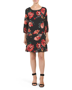 Juniors Made In USA Floral Shift Dress