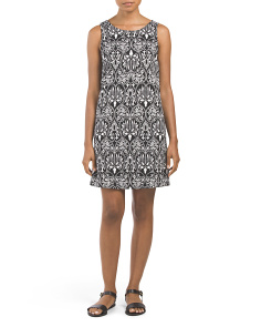 Juniors Made In USA Medallion Print Shift Dress
