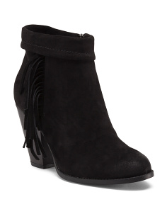 Emilie Side Fringe Booties