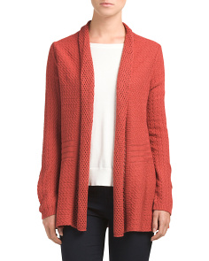 All Over Pointelle Cardigan