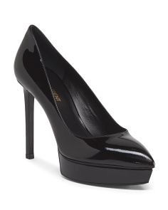 Made In Italy Patent Leather Platform Dress Pump