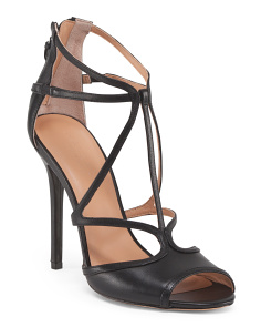 Leather Strappy Dress Heel