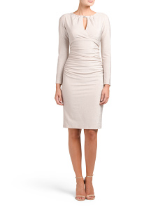 Made In USA long Sleeve Ruched Dress
