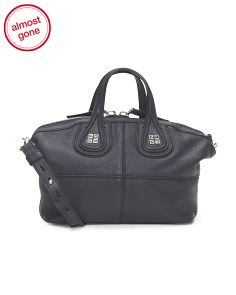 Made In Italy Leather Nightingale Micro Satchel