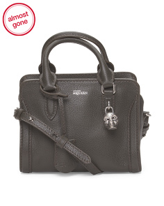Made In Italy Leather Mini Padlock Satchel