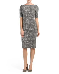 Abstract Textured Dress