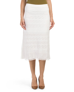 Made In Italy Lace Midi Skirt
