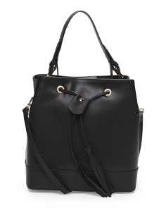 Made In Italy Leather Drawstring Hobo