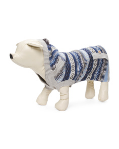 Frosty Fairisle Dog Sweater