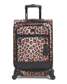 20in Kool Kat Leopard Soft Case Carry-On Spinner