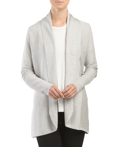 Ribbed Flat Front Cardigan
