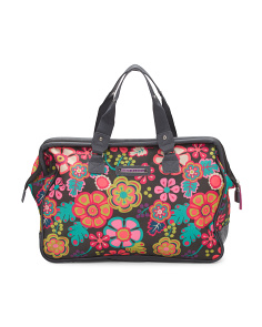 Wire Frame Folky Floral Satchel