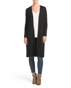 Ribbed Sweater Duster