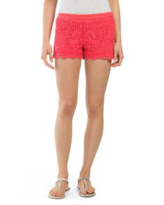 Juniors All Over Crochet Short